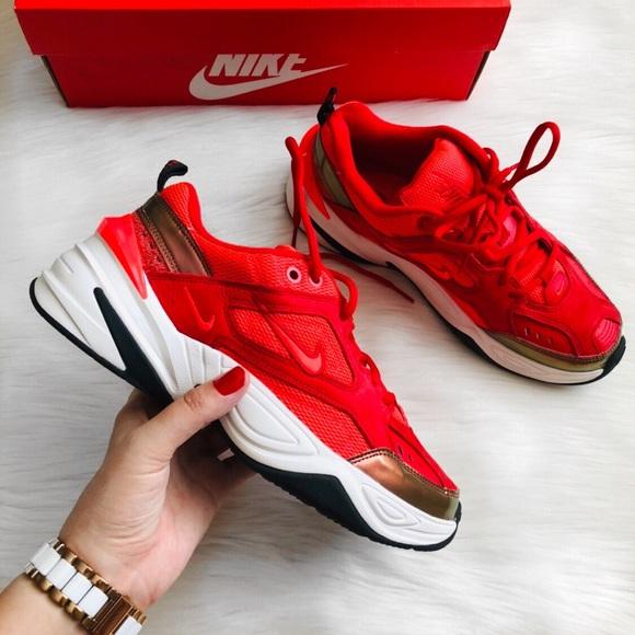 Nwb Nike M2k Tekno Red Sneakers